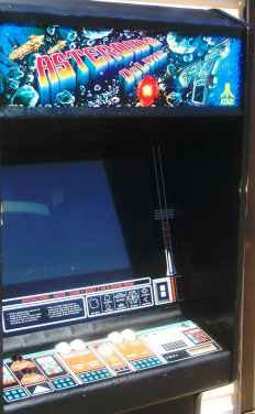 Atari Asteroids Deluxe Vector Arcade Video Game Of 1980 At