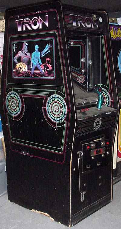 Tron Arcade Game Of 1982 By Midway At Www Pinballrebel Com