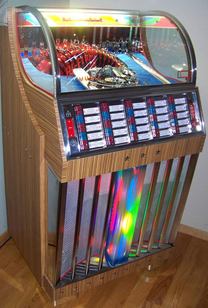 rockola 1442 junior jukebox of 1954 at  pinballrebel com