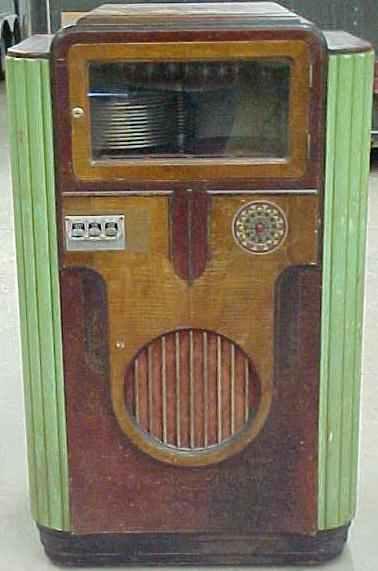 Wurlitzer 312 Jukebox of 1936 at www pinballrebel com