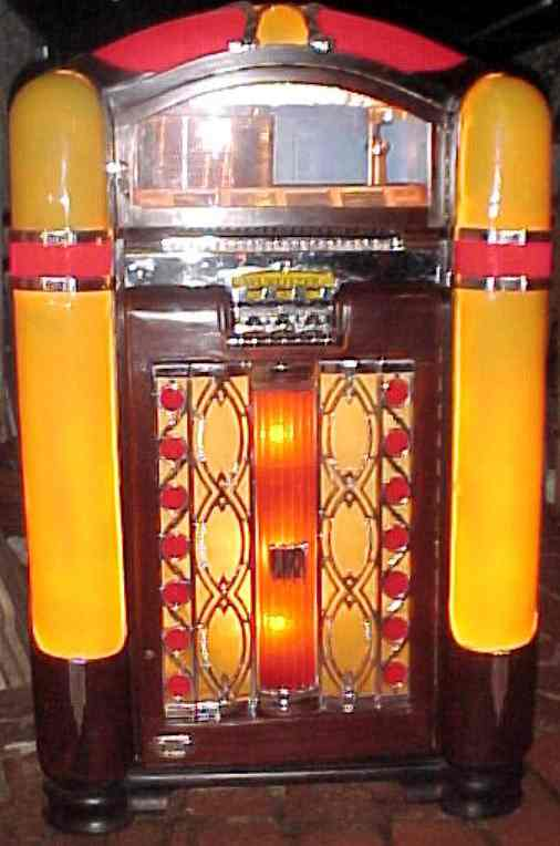 wurlitzer model 800 jukebox of 1941 at  pinballrebel com