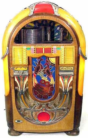 wurlitzer model 850 jukebox  u0026quot peacock u0026quot  of 1941 at  pinballrebel com