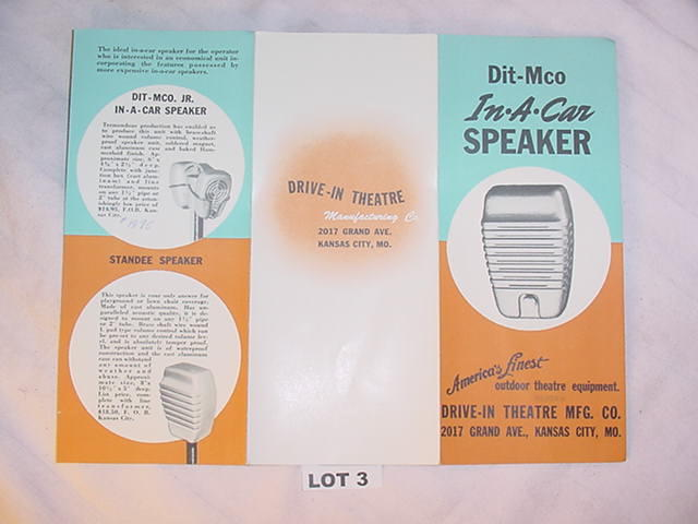 drive in movie theater manufacturing company sales