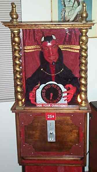 Devil Arcade Fortune Teller Machine