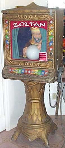 Zoltan Vintage Fortune Teller Arcade Machine At Www