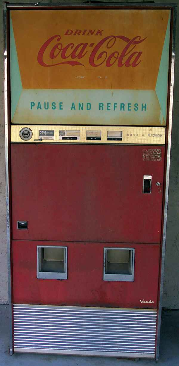 Classic Coca Cola Vendo 216 1 Soda Coke Vending Machine Of 1960s