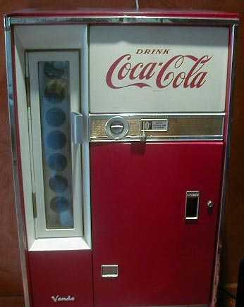 Classic Coca Cola Vendo 77 Soda Coke Vending Machine Of Early 1960s