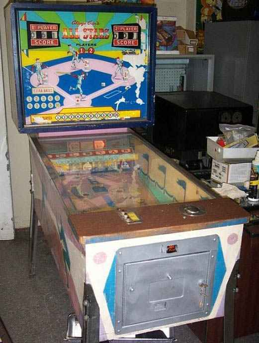 All Star Baseball Pinball By Chicago Coin Of 1962 At Pinballrebel