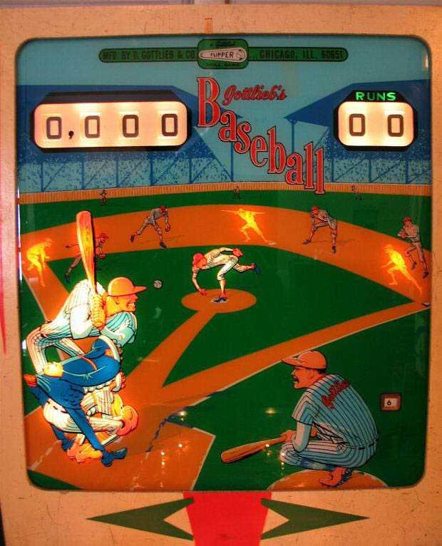 gottlieb baseball pinball machine