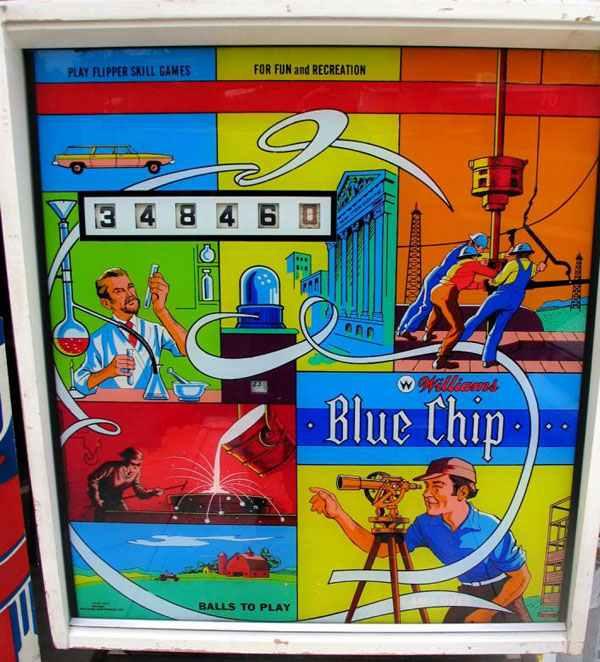 Blue Chip Pinball By Williams Of 1976 At Www Pinballrebel Com