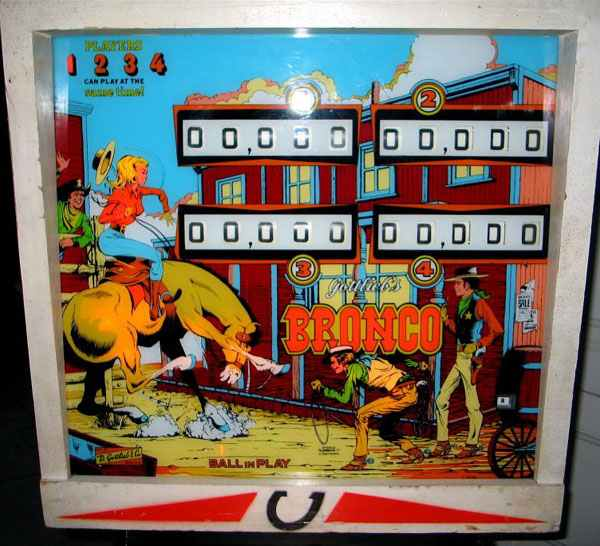 Bronco Pinball By D  Gottlieb & Company of 1977 at www