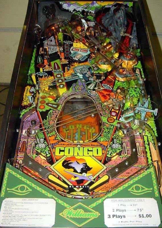 congo pinball machine for sale