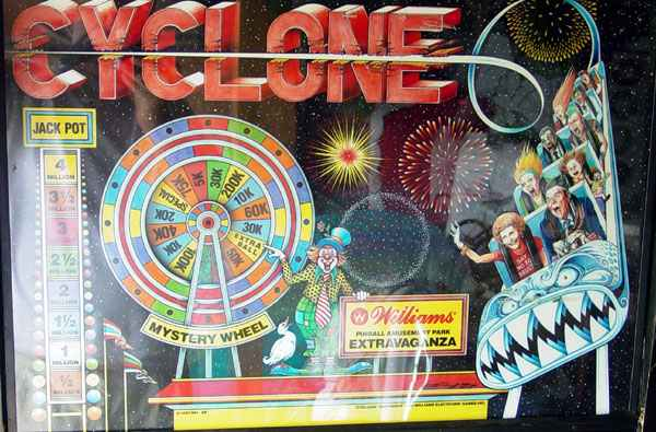 CYCLONE Pinball Machine Insert Decals APPROVED