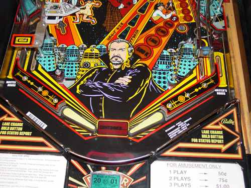 dr who pinball machine for sale