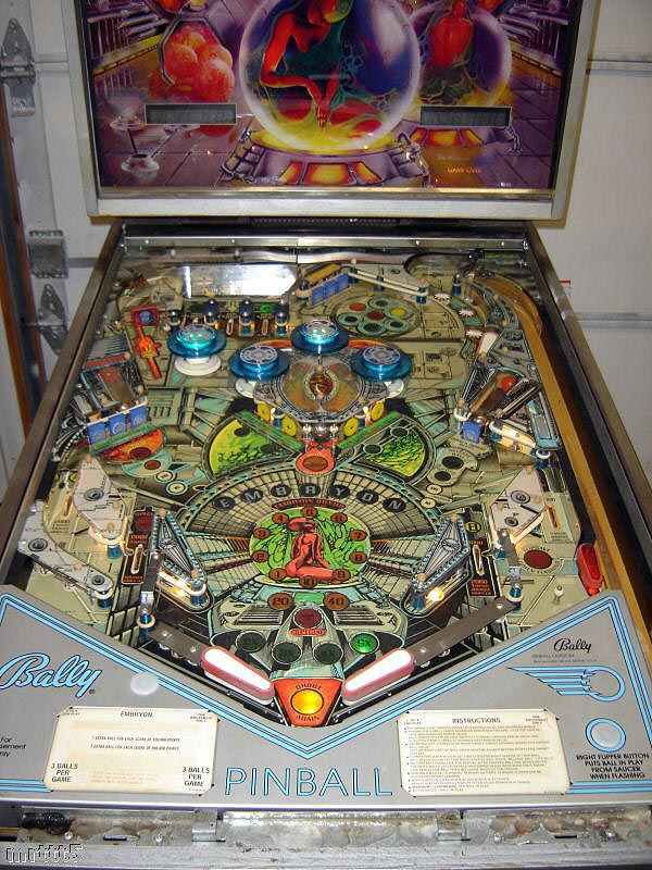 Embryon Pinball By Bally Of 1980 At Www Pinballrebel Com