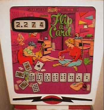 Flip A Card Wedgehaead Pinball By Gottlieb 1970 At Www
