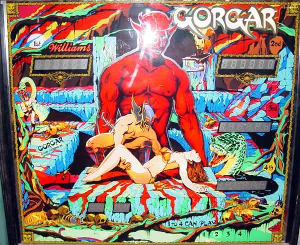 gorgar pinball machine