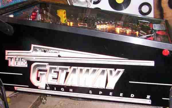 GETAWAY HSII  Pinball Machine Insert Decals LICENSED