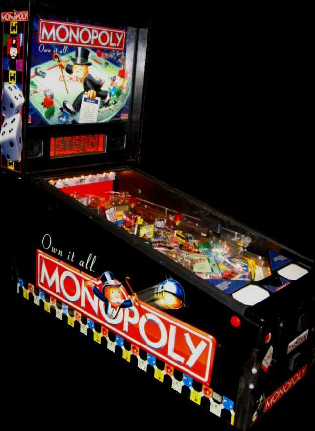 Monopoly Pinball By Stern Of 2001 At Www Pinballrebel Com
