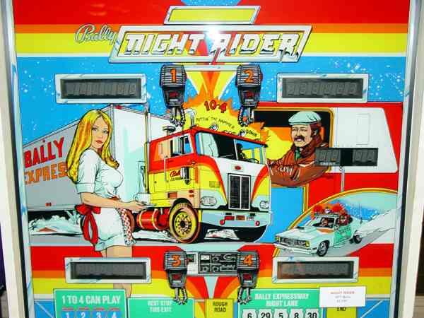 rider pinball machine