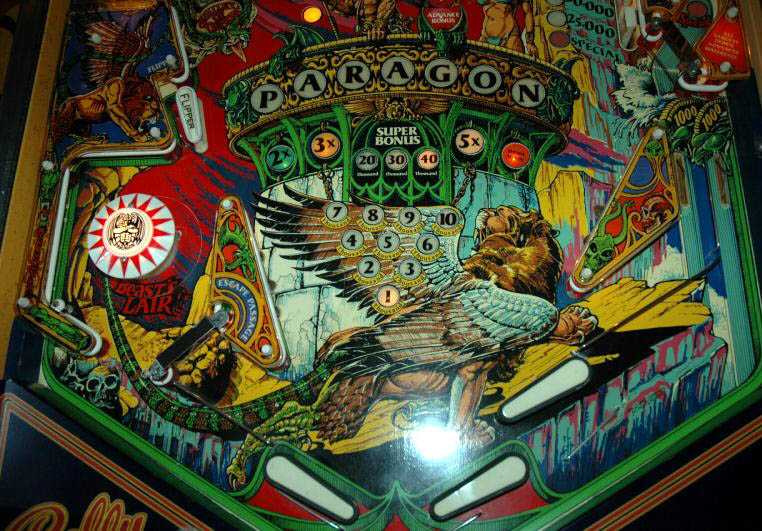 Paragon Pinball By Bally of 1979 at www
