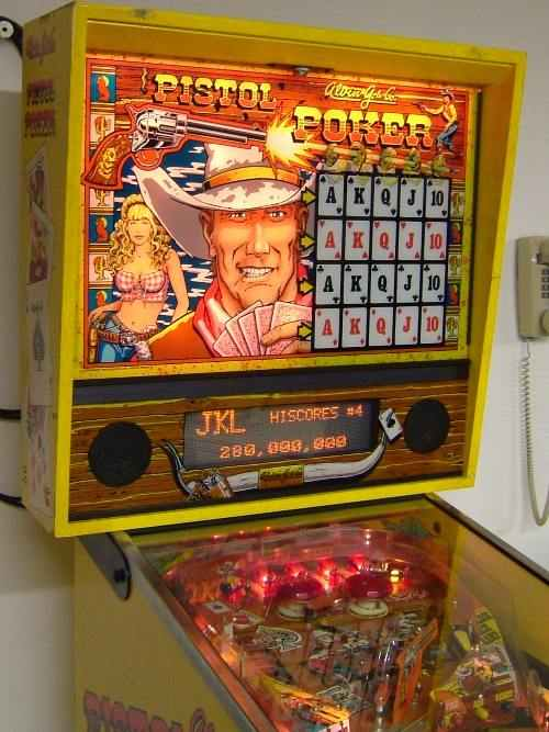 Pistol Poker Pinball By Alvin G And Company Of 1993 At