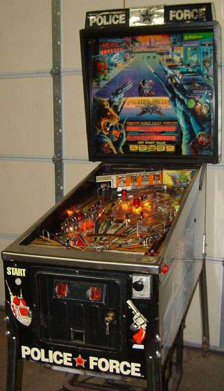 Police Force Pinball By Bally Of 1989 At Www Pinballrebel Com