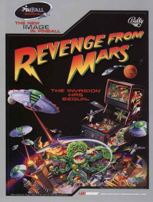 1999 Bally//Midway Revenge from Mars Rubber Ring Kit