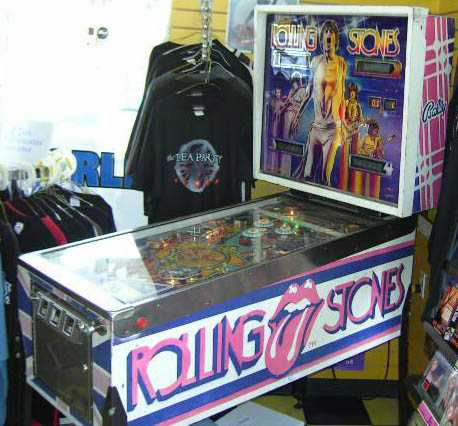 rolling stones pinball machine for sale