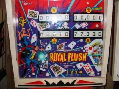 royal flush pinball machine