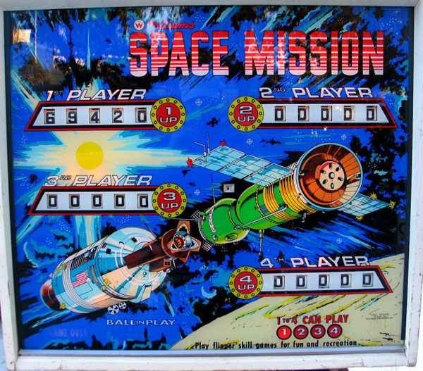 Space Mission Pinball By Williams of 1976 at www ...