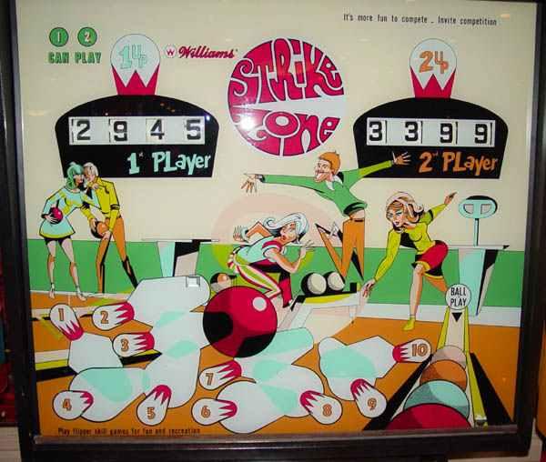 strike zone pinball by williams of 1970 at  pinballrebel com
