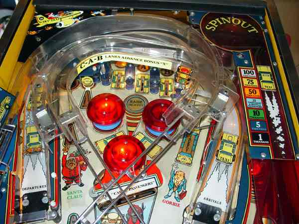 taxi pinball machine for sale