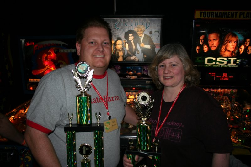 Draw Your Partner winners Ben Woodson and Julie Gray