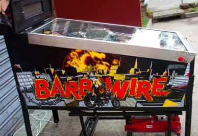 barb wire pinball by gottlieb of 1996 at www pinballrebel