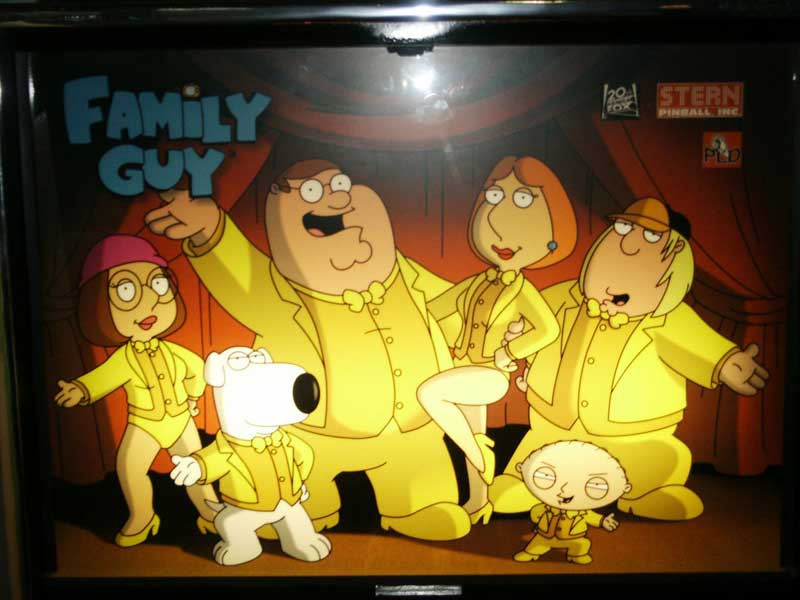 family guy pinball machine by stern of 2007 at