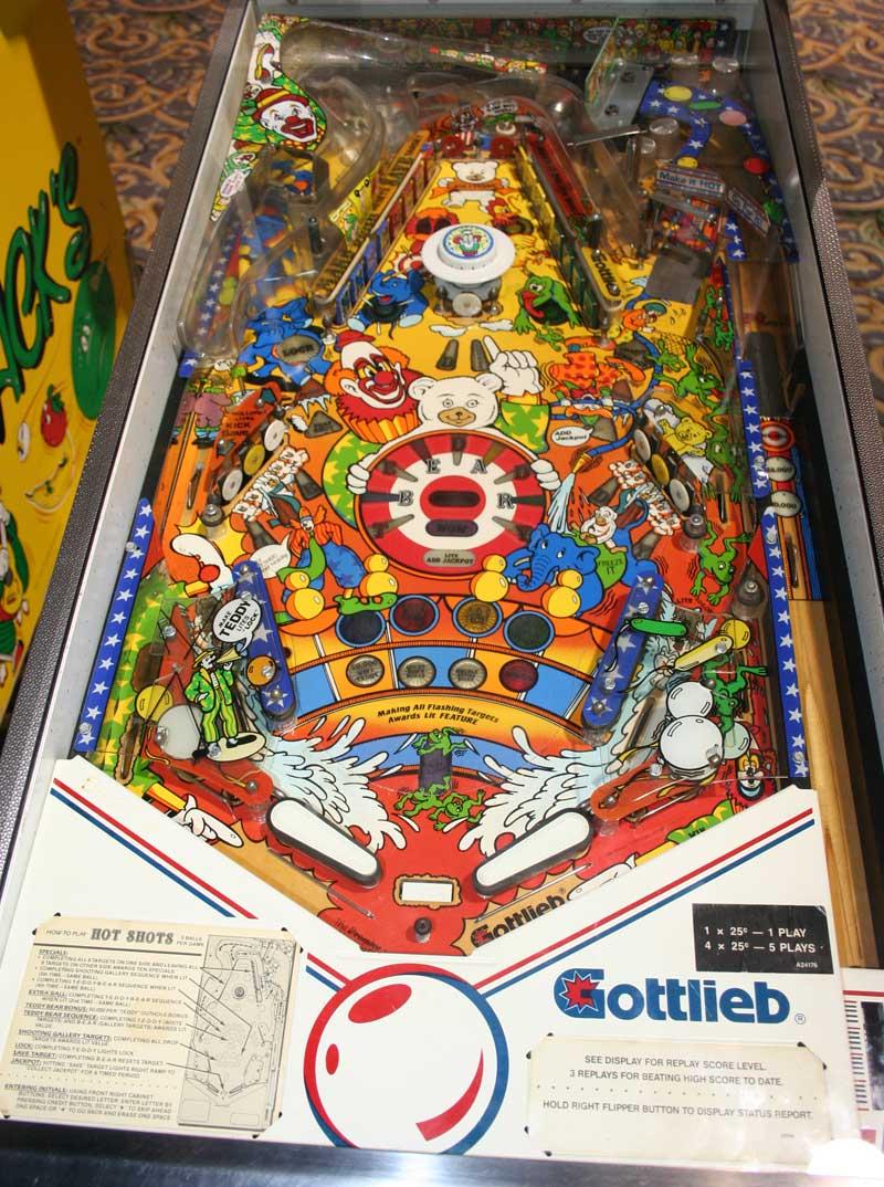Hot Shots Pinball By Gottlieb Of 1989 At Www Pinballrebel Com