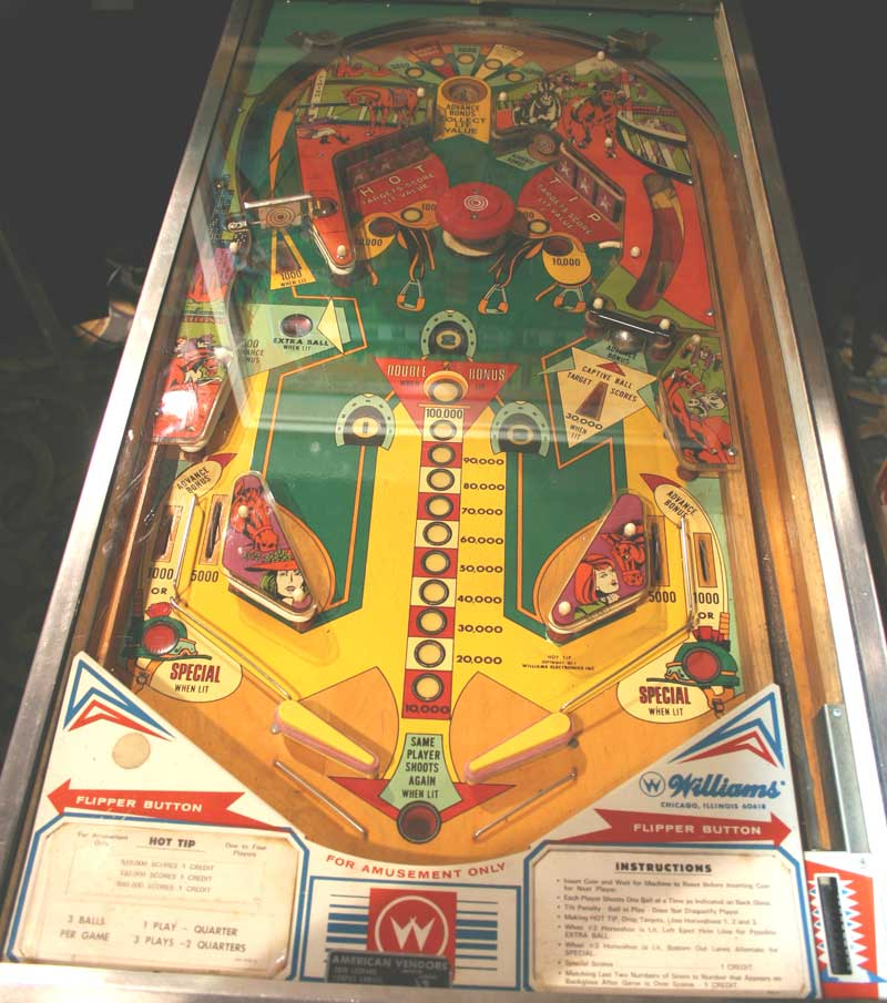 Hot Tip Pinball By Williams of