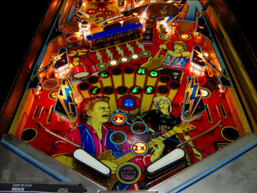 rock encore pinball by gottlieb 1986 at  pinballrebel com